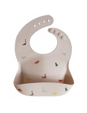 Silicone baby bib pink