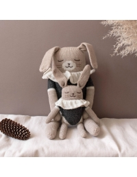 Main Sauvage Bunny knit Toy with black bodysuit
