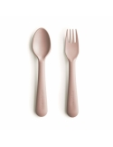 Set of cutlery for self learning pink
