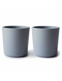 Set of cups for self learning blue
