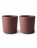 Set of cups for self learning maroon