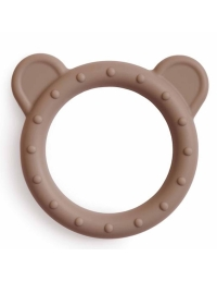 Mushie - Silicone teether Bear beige - 1