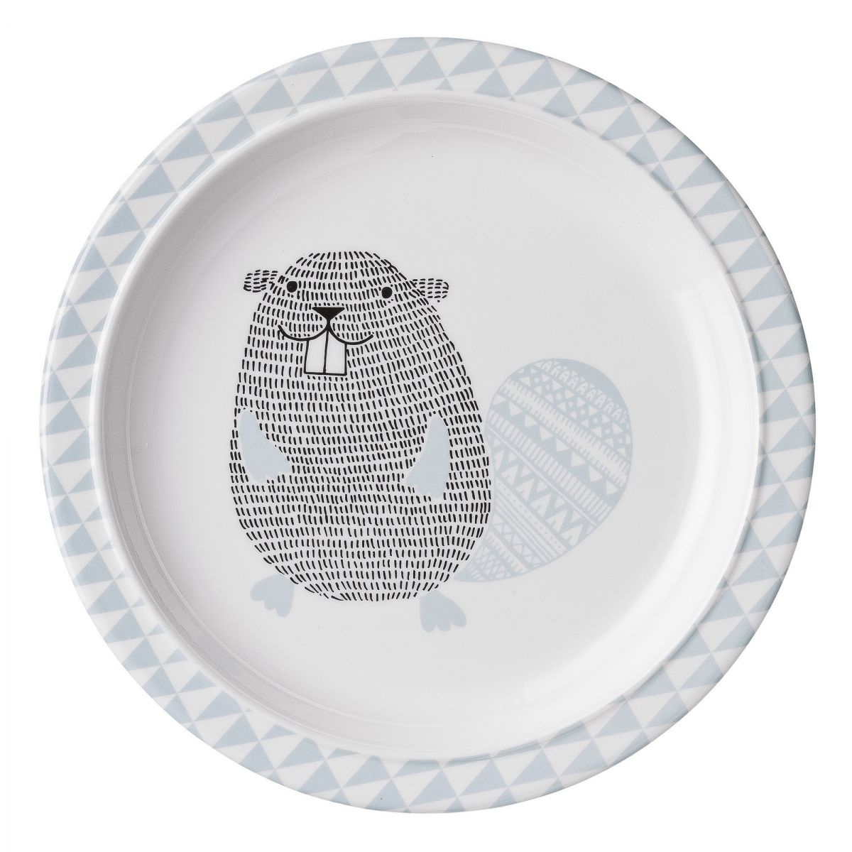 Bloomingville - Assiette Mint Noah Beaver - 1