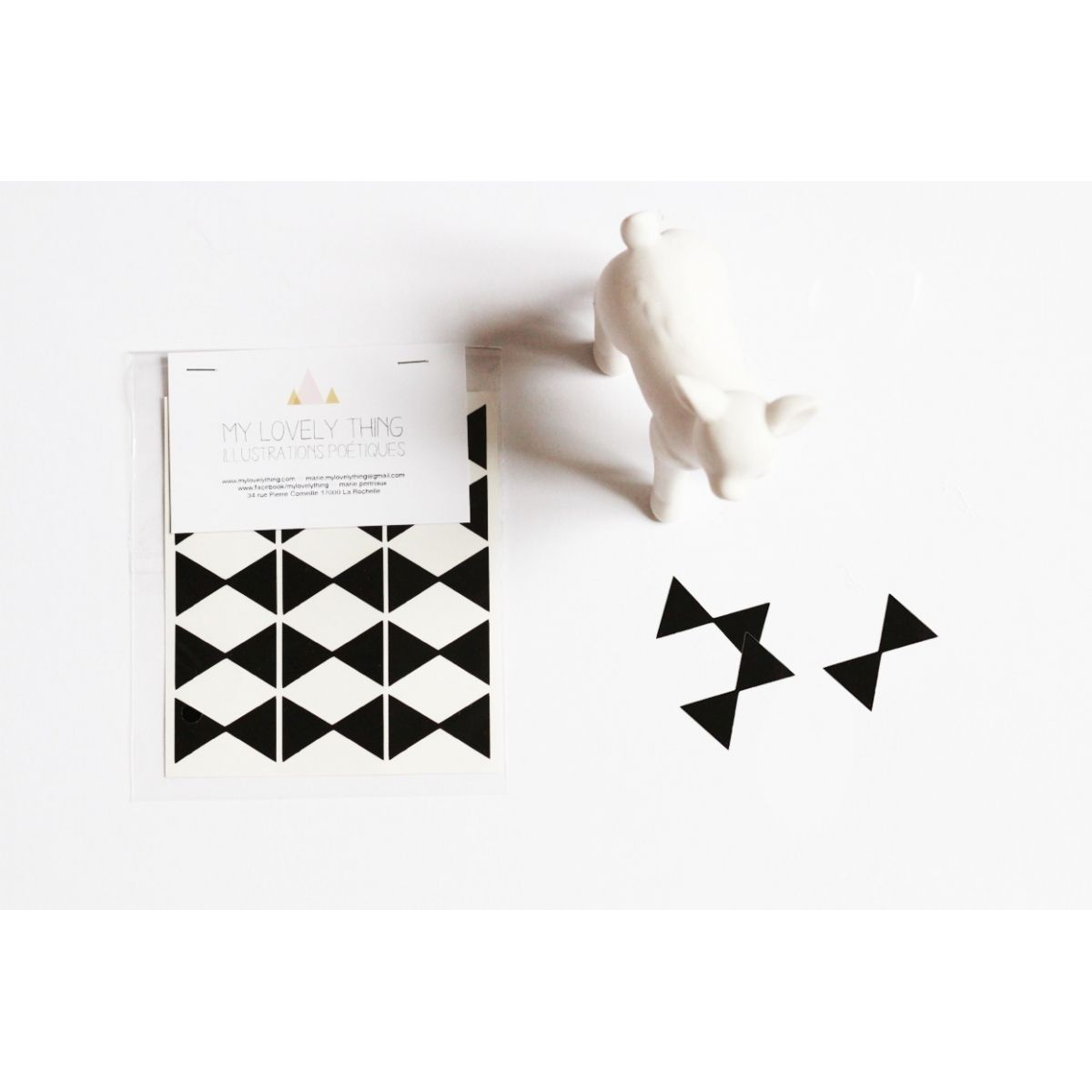 My Lovely Thing - Stickers Bow Tie black - 1