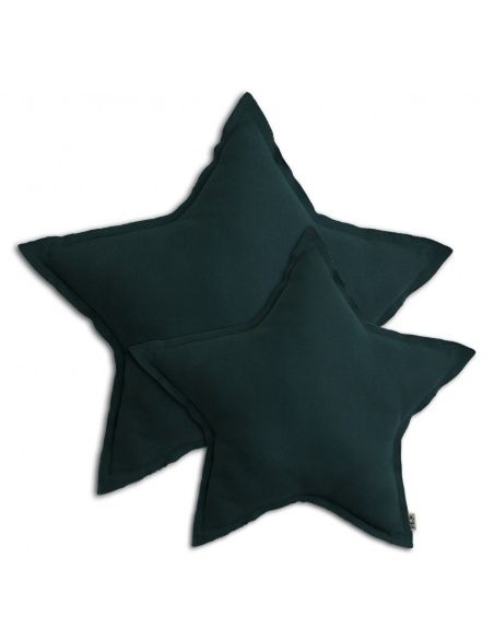 Numero 74 - Star cushion teal blue - 2